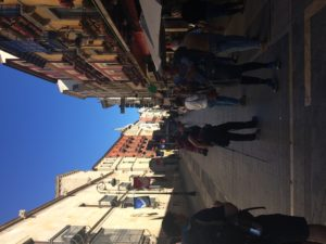 Walking the street of León