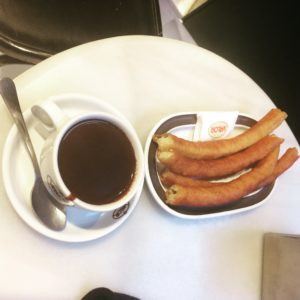 Spanish breakfast treat - churros at Valor